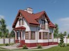 Проект индивидуального одноэтажного жилого дома с подвалом и мансардой